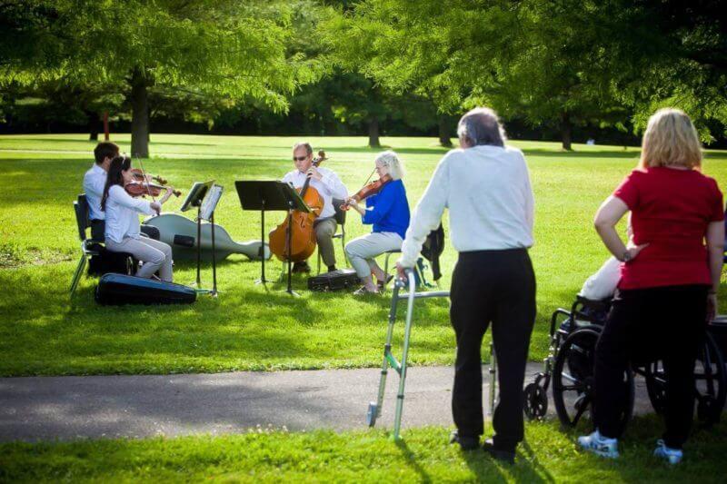 outdoor park concert outside